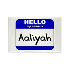 hello my name is aaliyah Rectangle Magnet