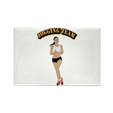 Jogging Team Rectangle Magnet