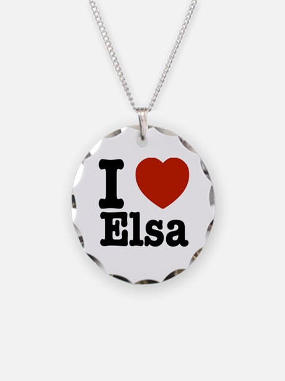 I love Elsa Necklace