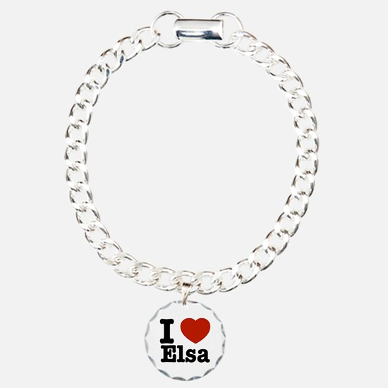 I love Elsa Charm Bracelet, One Charm