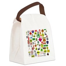 Street Signs Canvas Lunch Bag