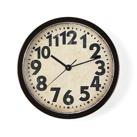 Dieselpunk Big Numbers Vintage Wall Clock By Scifinow