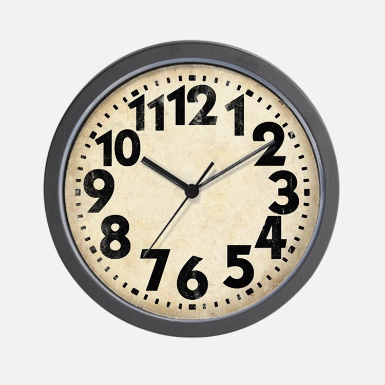 Dieselpunk Big Numbers Vintage Wall Clock