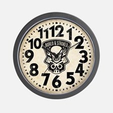 Skull And Pistons Biker Retro Wall Clock