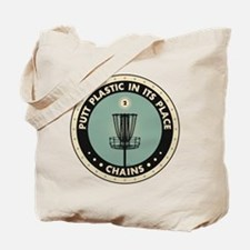 Putt Plastic In Its Place Tote Bag