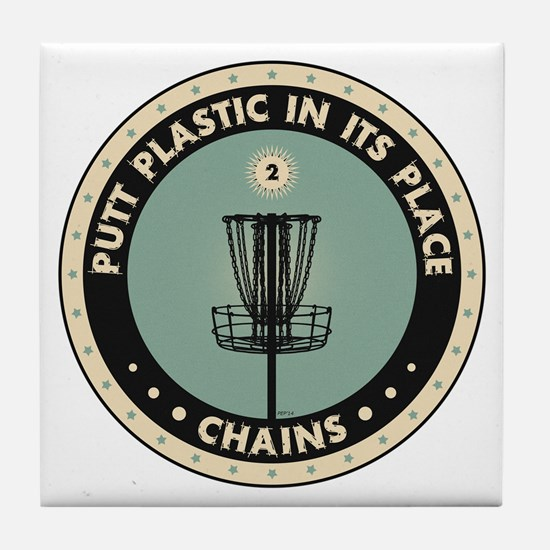 Putt Plastic In Its Place Tile Coaster