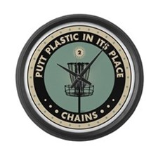 Putt Plastic In Its Place Large Wall Clock