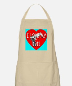 I Love My 1911 BBQ Apron