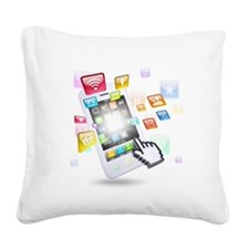 social media technologie Square Canvas Pillow