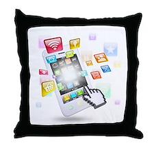social media technologie Throw Pillow