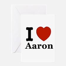 I love Aaron Greeting Card