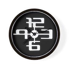 Design Futuristic 3d Black Wall Clock