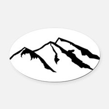 Cute Mountains Oval Car Magnet