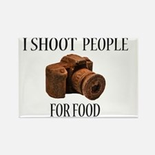 I Shoot People For Food Rectangle Magnet