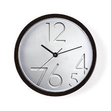 Design Futuristic Engraved Wall Clock