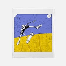 Half Pipe Skateboarder Throw Blanket