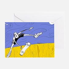 Half Pipe Skateboarder Greeting Card