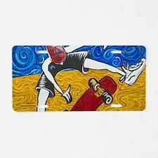 Halfpipe Skater 2 Aluminum License Plate