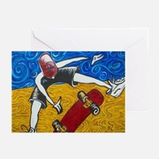 Halfpipe Skater 2 Greeting Cards