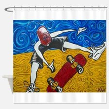 Halfpipe Skater 2 Shower Curtain