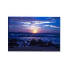 Beautiful blue Kauai sunset. Rectangle Magnet