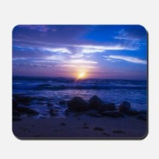Beautiful blue Kauai sunset. Mousepad