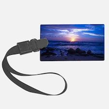 Beautiful blue Kauai sunset. Luggage Tag