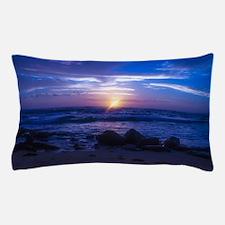Beautiful blue Kauai sunset. Pillow Case