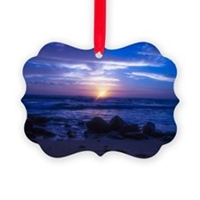 Beautiful blue Kauai sunset. Ornament