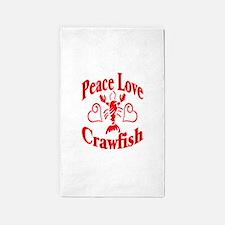 PeaceLoveCrawfish1tran.png 3'x5' Area Rug