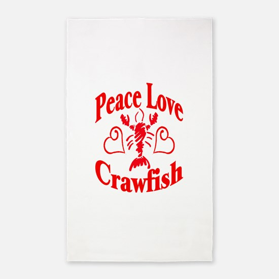 PeaceLoveCrawfish1tran.png 3'x5' Area Rug