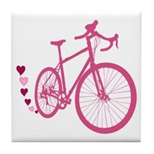 Bike Love Tile Coaster