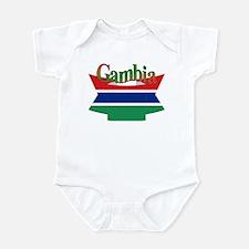 Gambian flag ribbon Onesie
