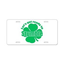Shamrock Stumble Aluminum License Plate