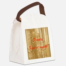 Done-it-myself Canvas Lunch Bag