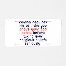 Reason Requires Aluminum License Plate