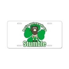 Shamrock Stumble 2 Aluminum License Plate