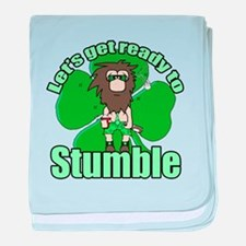 Shamrock Stumble 2 baby blanket