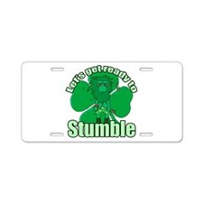 Shamrock Stumble 3 Aluminum License Plate