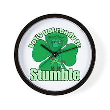 Shamrock Stumble 3 Wall Clock