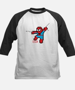 8 Bit Spiderman Kids Baseball Jersey
