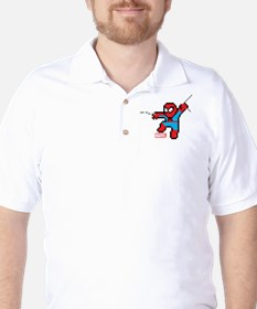 8 Bit Spiderman Golf Shirt