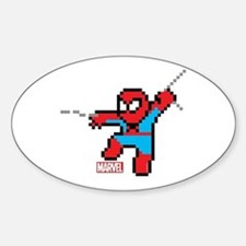 8 Bit Spiderman Sticker (Oval)