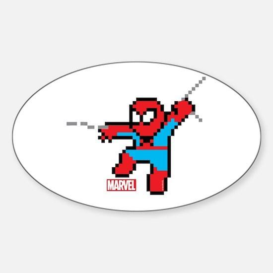 8 Bit Spiderman Sticker (Oval)