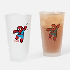8 Bit Spiderman Drinking Glass