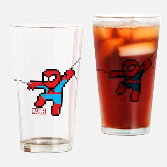8 Bit Spiderman Drinking Glass