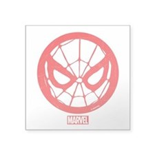 "Spiderman Web Square Sticker 3"" x 3"""