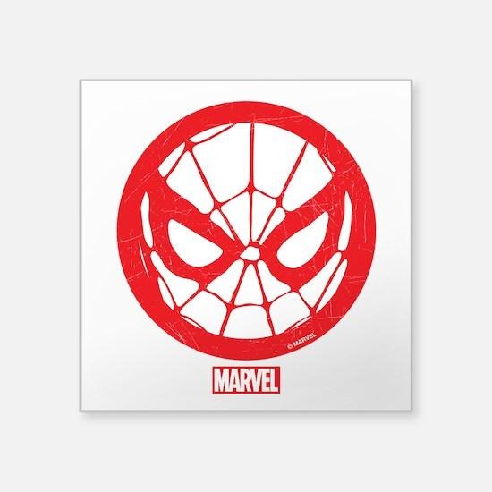 """Spiderman Web Square Sticker 3"""" x 3"""""""