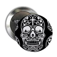 "Sugar Skull Red.png 2.25"" Button"