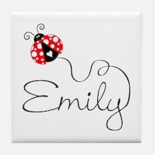 Ladybug Emily Tile Coaster